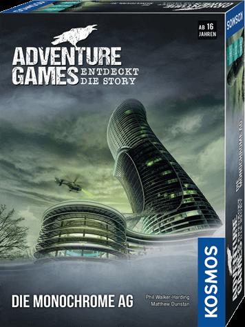 Spieleschachtel des Brettspiels Die Monochrome AG vom Kosmos Verlag