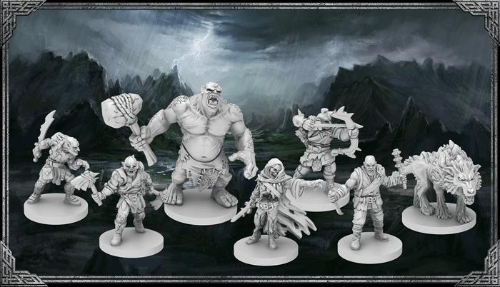"""Miniaturen der Monster aus dem Brettspiel """"Der Herr der Ringe - Reise durch Mittelerde"""" von Asmodee"""