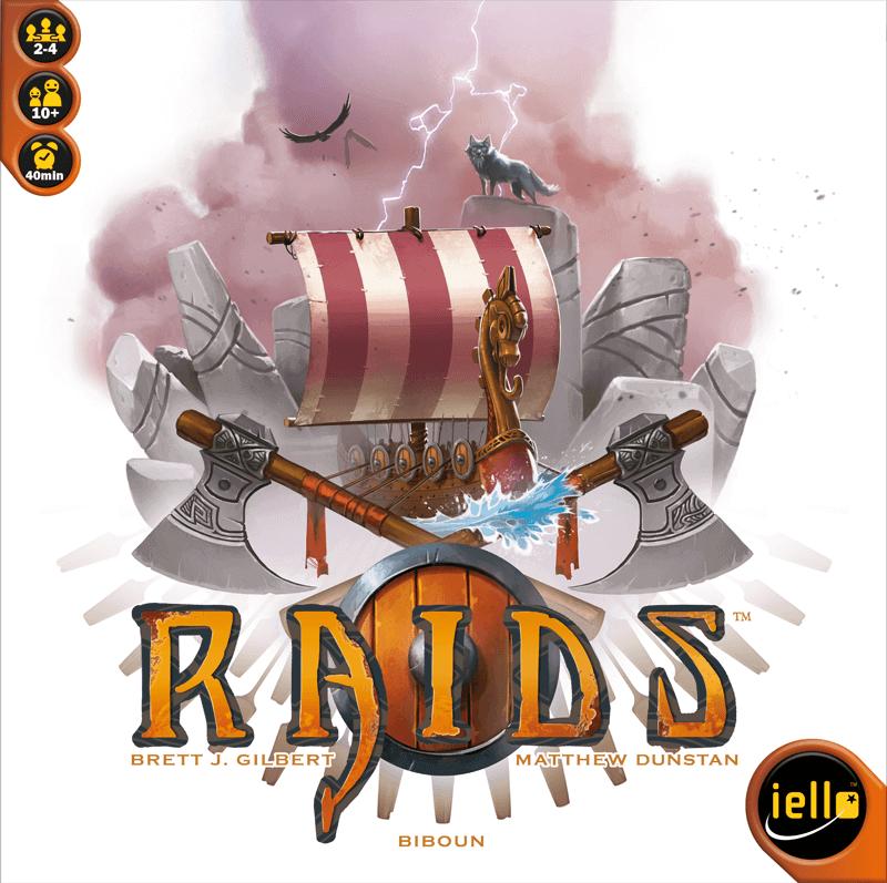 Spieleschachtel des Brettspiels Raids vom Iello Verlag