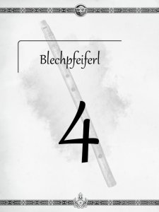 """Überschrift des vierten Kapitels Blechpfeiferl aus dem """"Midgard-Schandmaul-Band 1 - Wahre Helden"""" des DDD Verlages"""