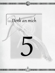 """Überschrift des fünften Kapitels Denk an mich aus dem """"Midgard-Schandmaul-Band 1 - Wahre Helden"""" des DDD Verlages"""
