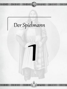"""Überschrift des ersten Kapitels Der Spielmann aus dem """"Midgard-Schandmaul-Band 1 - Wahre Helden"""" des DDD Verlages"""
