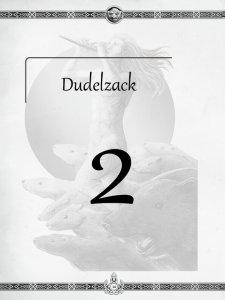 """Überschrift des zweiten Kapitels Dudelzack aus dem """"Midgard-Schandmaul-Band 1 - Wahre Helden"""" des DDD Verlages"""