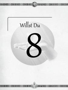 """Überschrift des achten Kapitels Willst Du aus dem """"Midgard-Schandmaul-Band 1 - Wahre Helden"""" des DDD Verlages"""