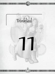 """Überschrift des elften Kapitels Trinklied aus dem """"Midgard-Schandmaul-Band 1 - Wahre Helden"""" des DDD Verlages"""