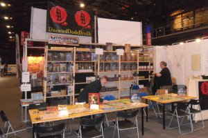 Messestand des DDD Verlages auf der Spiel Doch 2019 in Duisburg