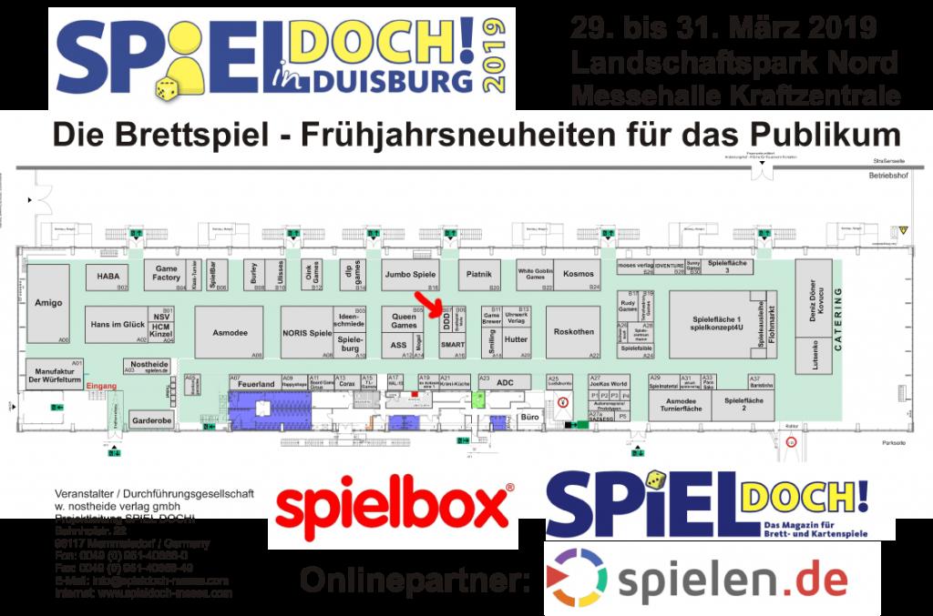 Der Stand des DDD Verlags auf der Spiel Doch 2019 in Duisburg