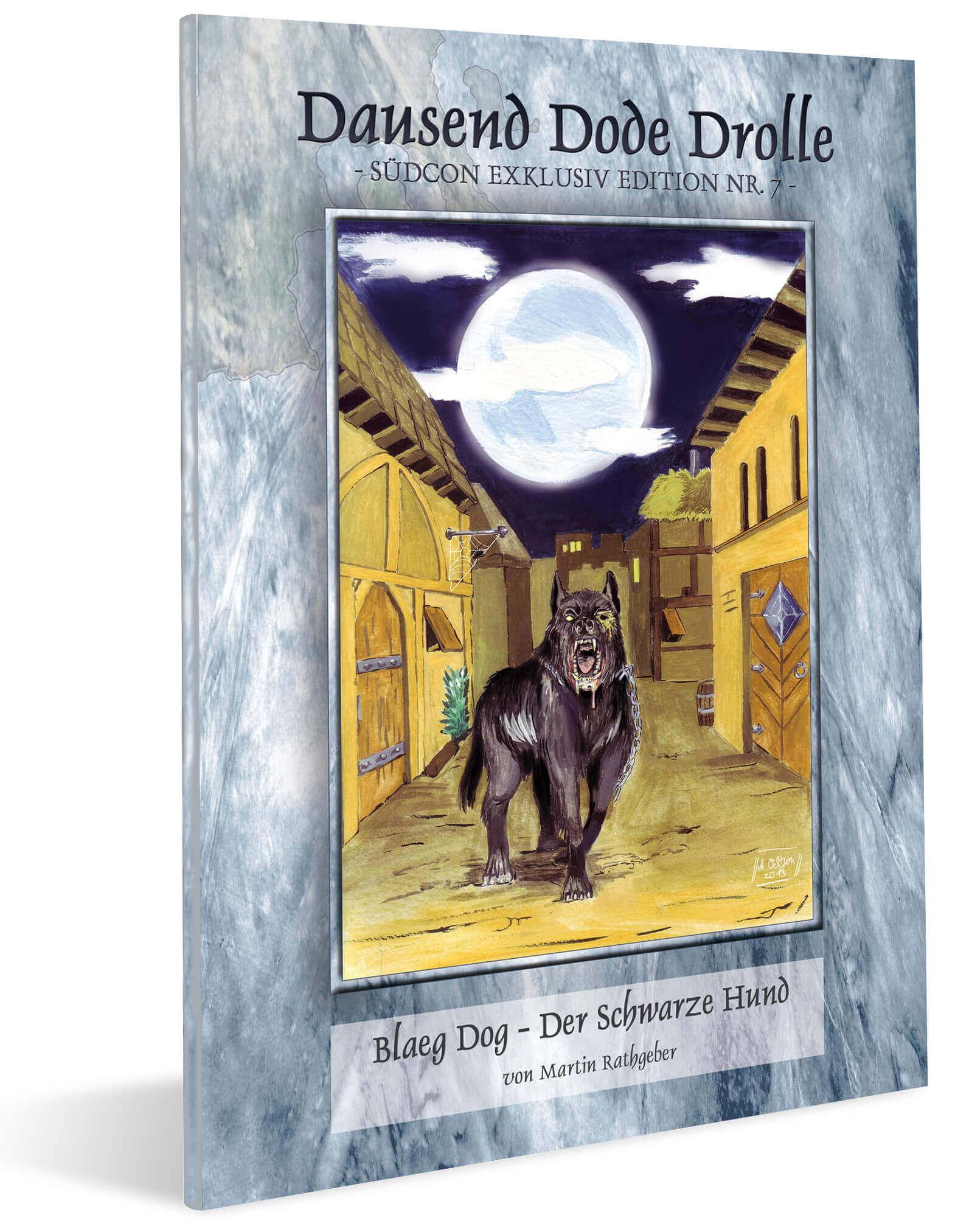 Cover Midgard Südcon Abenteuerband Blaeg Dog - Der Schwarze Hund