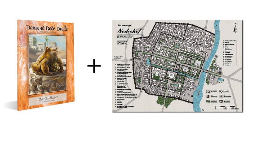 Produktbild Midgard Abenteuer Die Goldkröte plus Stoffkarte Nedschef