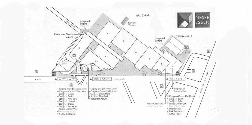 Hallenplan Messe Essen 2021