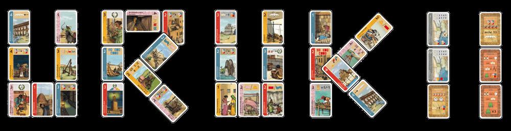 Auswahl an Karten aus dem Spiel Uruk II